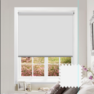 White Roller Blind - Bahamas Bright White
